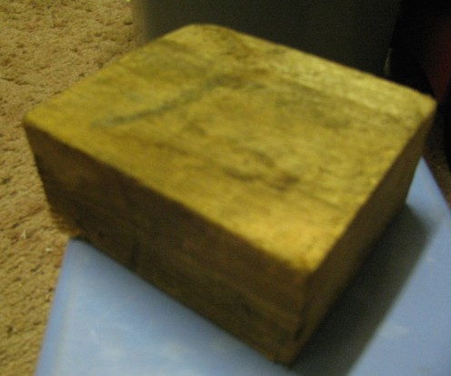 A piece of 2 x 4 (one short plank!)