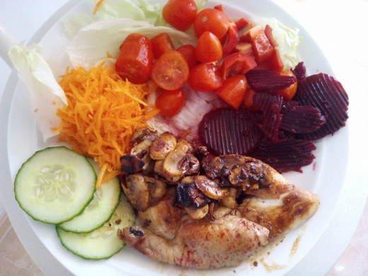 Save money by cooking healthy meals at home rather than buying takeaway meals