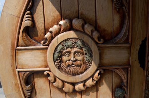 Door of wine shop in Montenegro