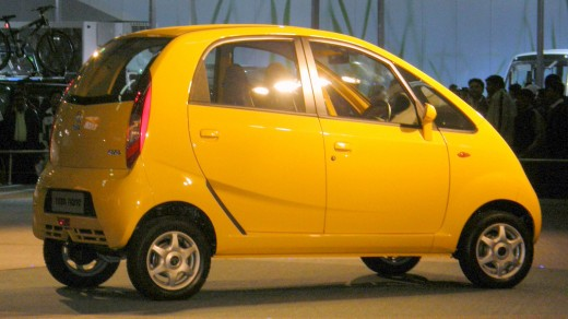 Tata Nano -- 2500$ Car Launched In Auto Expo 2008 in New Delhi.  Designed to lure India's middle classes away from two-wheelers, it received much publicity.