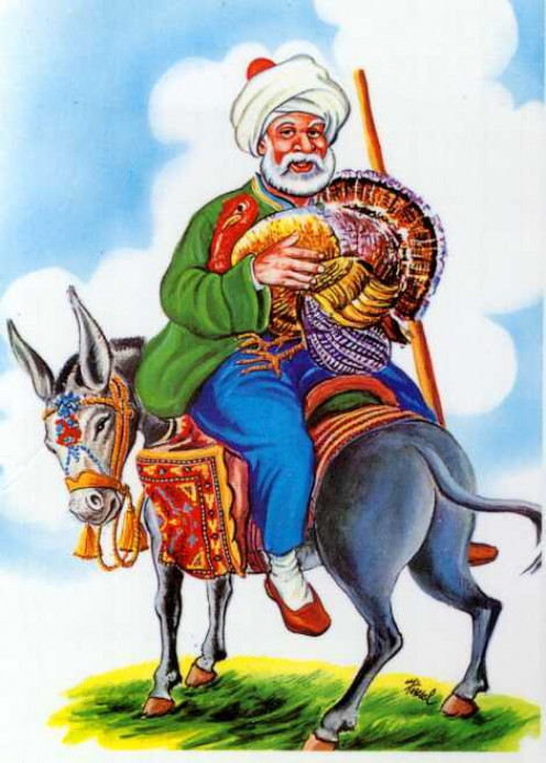 Mulla in his donkey