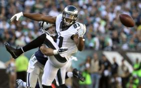 Philadelphia Eagles WR Jordan Matthews doing what he does best, dropping passes