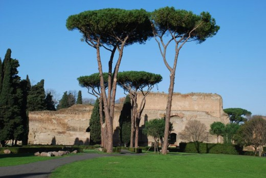 Places to visit in Rome; Baths of Caracalla