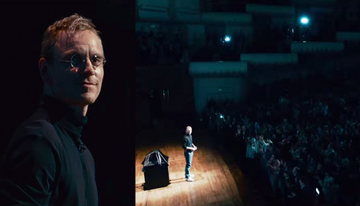 Fassbender as Steve Jobs at the 1998 IMac product launch