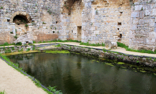 Frigidarium pool in the bath house at Miletus