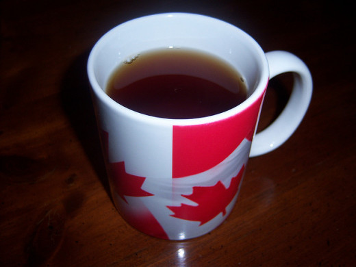 A perfect cup for maple tea