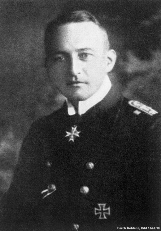 The  German Hero responsible for the torpedo hitting the Lusitania.