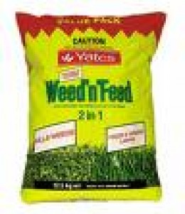 Weed and feed fertilizer and weed killer
