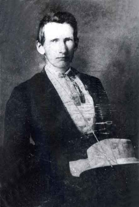 Historic Missouri photo of Frank James, about 1885