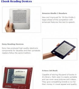 write an ebook for all electronic readers comparison
