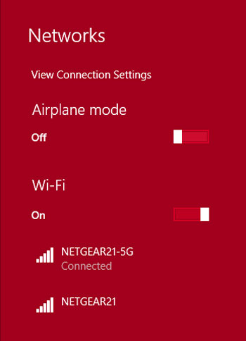 "Shows the two bands available on the router to connect to.  The ""-5G"" is the 5GHz, faster connection."