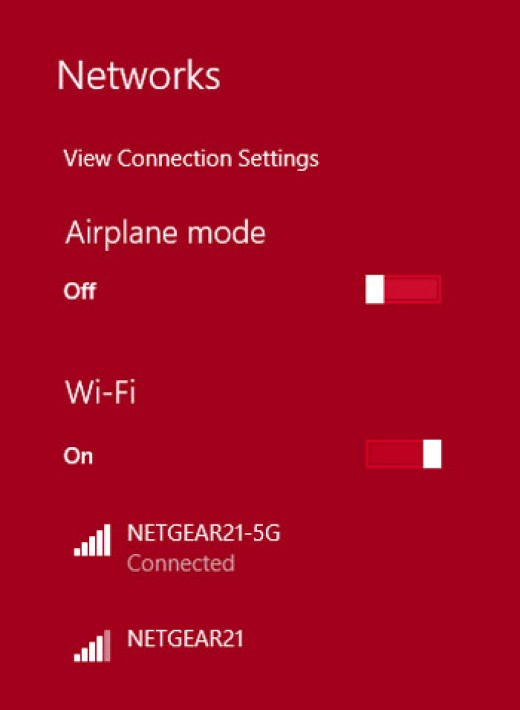 I moved farther away from the router and you can see one less bar on the 2.4 GHz connection now.  I had 3 briefly and have performed speed tests to verify the data rate droppage.