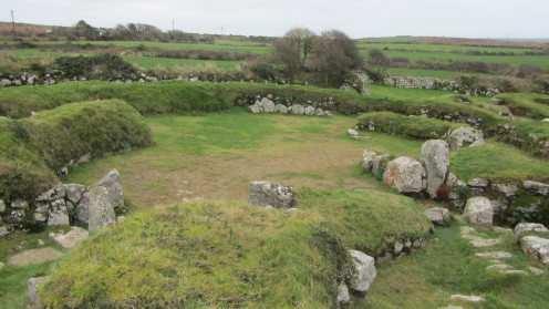 Carn Euny - Iron Age village from Cornwall, UK.