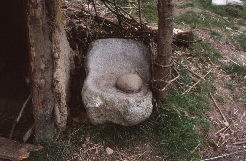 A saddle quern - British Bronze Age.