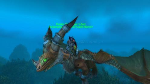 A screenshot of me heading towards a Mist of Pandaria (MoP) raid- PRE Warlords of Draenor (WoD)
