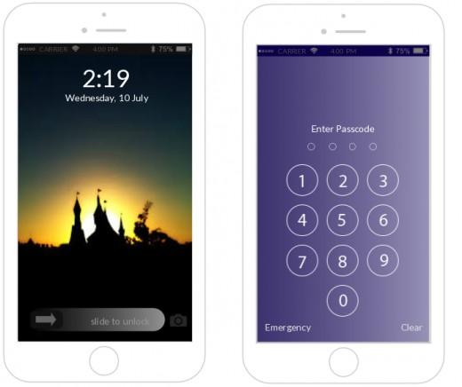 Flat Design - Home Lock Screen