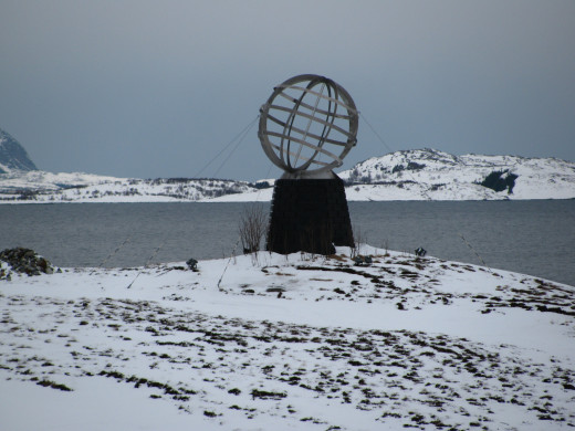 Entering the Freezing Arctic Circle, off coast of Norway