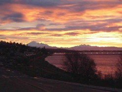 One of my Dad's amazing photos - sunset in White Rock, BC