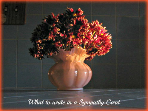 Use a meaningful message when you send a Sympathy Card.
