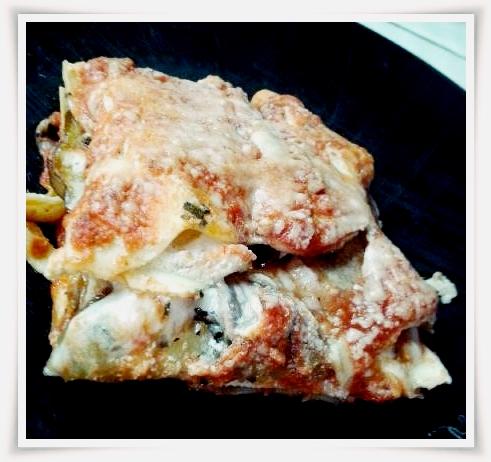 A serving of delicious Vegetarian Eggplant Lasagna.