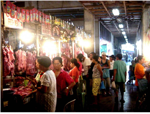 A local market (palengke) in the Philippines.