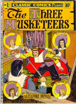 Cover for the comic book version of the classic 'The Three Musketeers.'