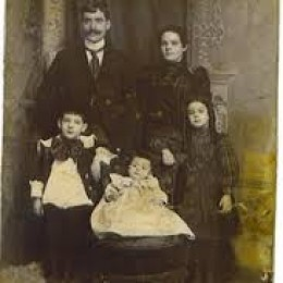 The Hub Authors grandfather and grandmother (rear) Ambrose & Julia Bachner.
