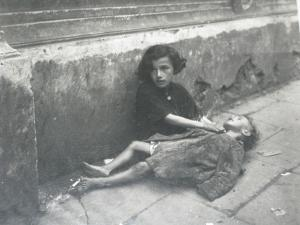 Typical scene in the Warsaw Ghetto.