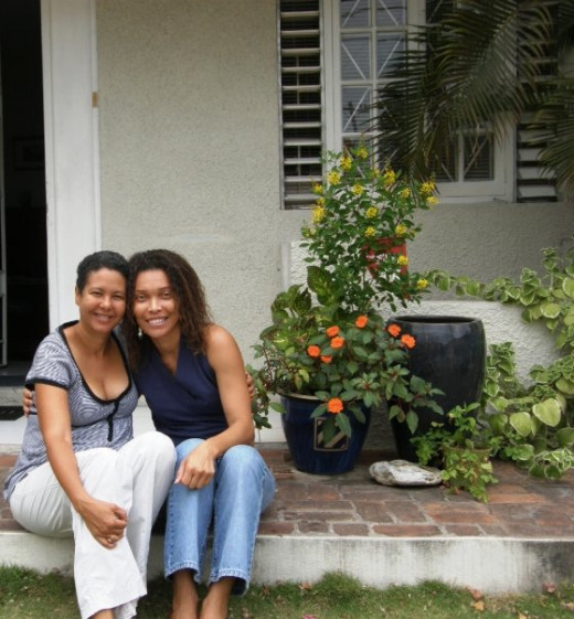 Connecting with childhood friend in Jamaica, circa 2009