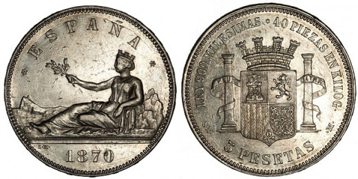 Old coins are found with a metal detector.