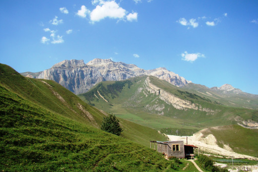 View of Mount Shahdag, Azerbaijan