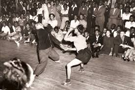The Savoy Ballroom, rent parties were the places where swing dance, the Lindy hop, the jitterbug and the Charleston were popular dances in the 1920s-1940s.