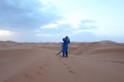 A Wanderer in the Sahara Desert
