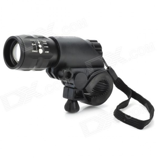 I have one of these really bright 150 lumen bicycle lights on order from Dealextreme.