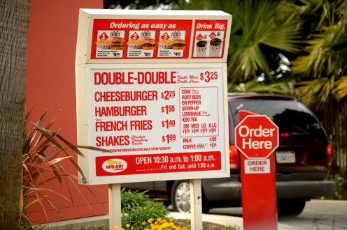 In-N-Out's menu, which essentially hasn't changed in 67 years.