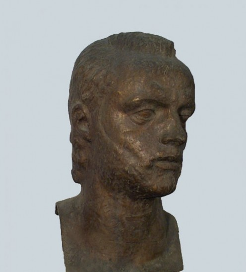 Bronze sculpture of Emilio Oribe