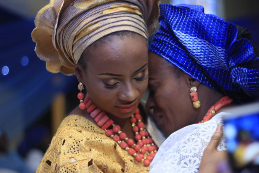 A Yoruba bride and mother
