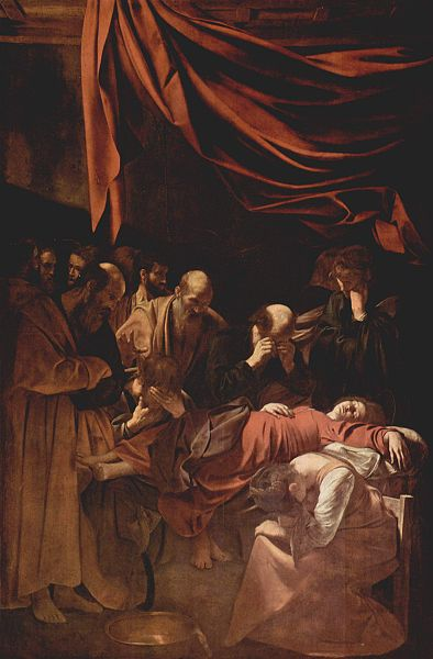 Death of the Virgin. A well known prostitute was used as the model, creating uproar.