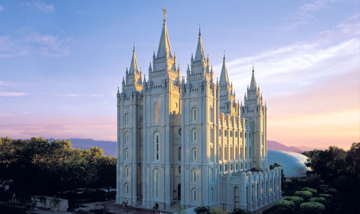 The Salt Lake Temple in Salt Lake City, Utah