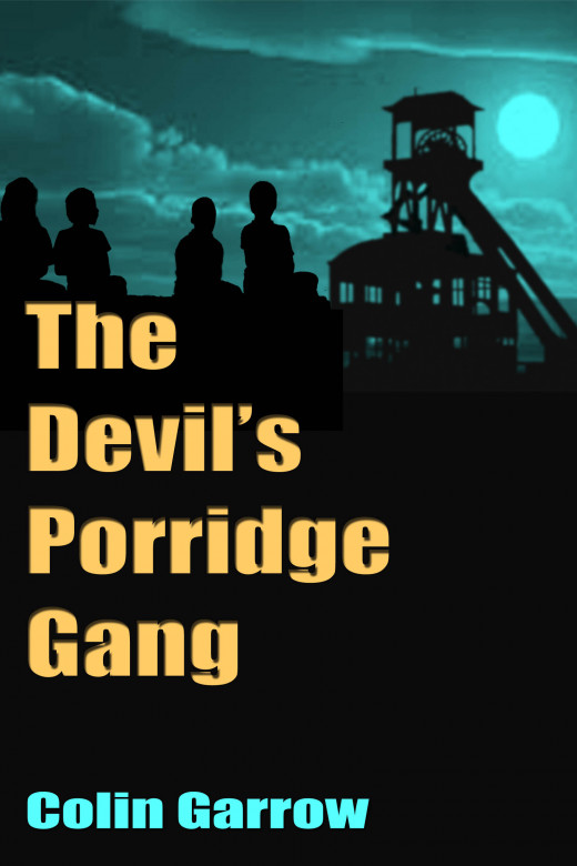 Third version of the cover for 'The Devil's Porridge Gang'
