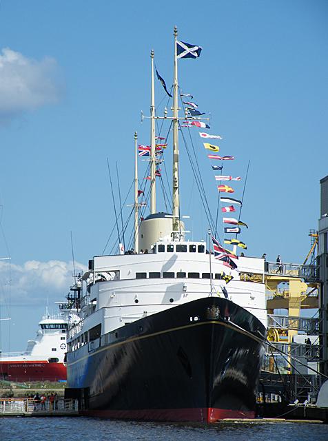 Royal Yacht Britannia at Ocean Terminal, Edinburgh