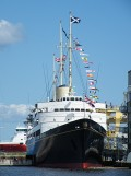 The Royal Yacht Britannia in Edinburgh, Scotland