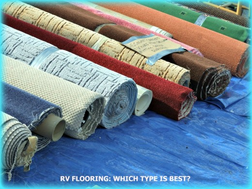 There are many types of floor coverings available for RV use these days.