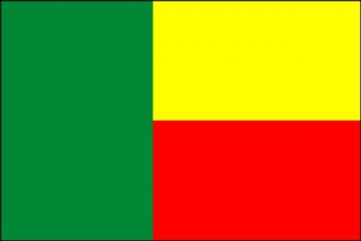 National Flag of Rep. of Benin