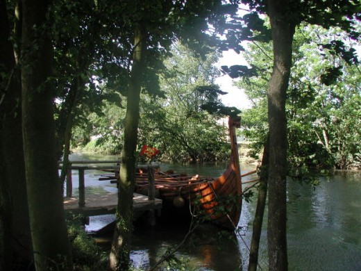 Reconstructed Viking Ship in Normandy, France