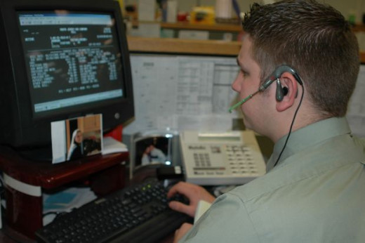 Call Center Representative on a Telephone Headset