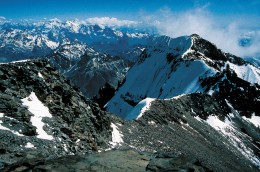 View from the summit of Aconcagua 6962m. This is an achievable summit