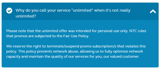 How can you possibly call it unlimited when  it's not. The network officially declared their terms when it comes to Usage policies.