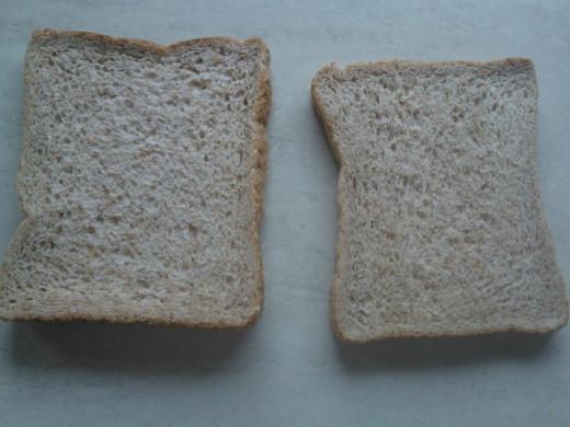 Raw toast.