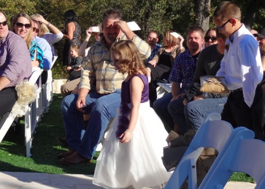 The Flower Girl (wearing Cowboy boots) and the Ring Bearer